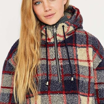 BDG Check Teddy Sweatshirt - Urban Outfitters