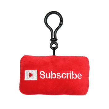Subscribe Button Plush Clip - Limited Edition