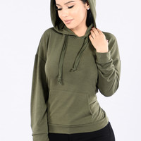 What's Good Hood Hoodie - Olive