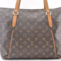 Authentic Louis Vuitton Monogram Totally MM Tote Bag M41015 LV 44216