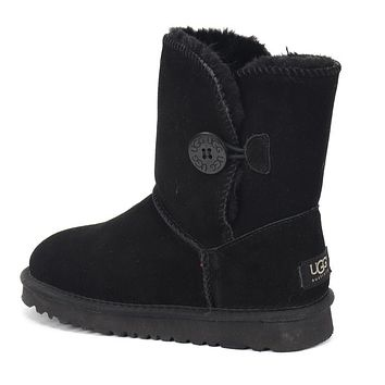 UGG New Diamond Buckle Couple Mid-cut Snow Shoes Boots