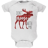 Autumn Don't Moose with Me Soft Baby One Piece