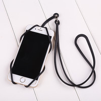 Silicone Lanyard Case Cover Holder Sling Necklace Straps For Cell Phone Convenient High Quality