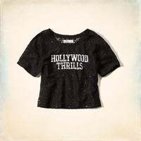 Hollywood Thrills Lace Graphic T-Shirt
