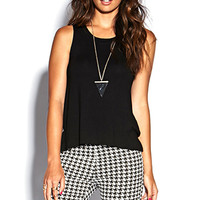 FOREVER 21 Cutout Back Musle Tee