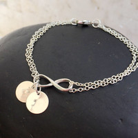 Personalized Infinity bracelet, Personalized bracelet, Gift for mom, Bridesmaid Gift for her, infinity friend bracelet, Mother's day Gift