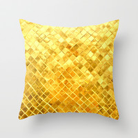 Give me Gold Throw Pillow by Sreetama Ray