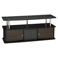TV Entertainment Stand with 3 Cabinets - Black