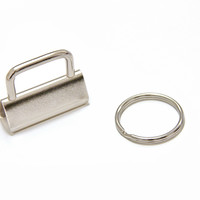 """Key Fob Hardware - 1.25"""" (32mm), with 25mm Split Ring"""