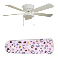 """Classic Hello Kitty 52"""" Ceiling Fan with Lamp"""