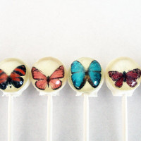 Butterfly ball style edible images hard by VintageConfections