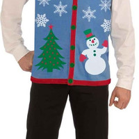 Christmas Tree and Snowman Ugly Sweater Vest