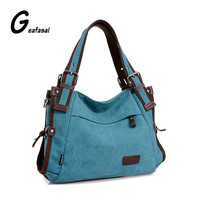 COUPON new hobos canvas handbag shoulder bags strapped messenger bags women ladies CONTRAST COLOR blue khaki red burgundy preppy