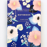 Clap Clap: Hibiscus Notebook in Blue