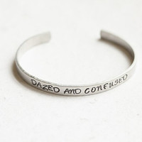 Led Zeppelin Dazed and Confused Stamped Cuff by JTSkyDesigns