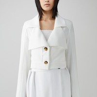 Bevza Double Collar Flared-Sleeve Blouse - WOMEN - JUST IN - Bevza - OPENING CEREMONY