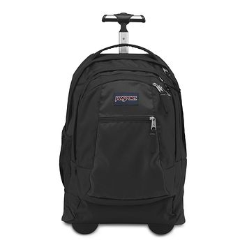 JanSport Driver 8 Rolling Backpack - Wheeled Travel Bag with 15-Inch Laptop Sleeve Black