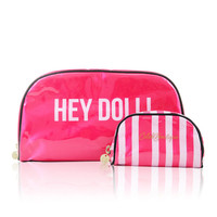 Accessories :'Hey Doll' Double Make up Bag Set