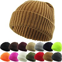 Premium Cuff Ribbed Beenie One Size Fit All