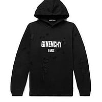 Givenchy Distressed Hoodie