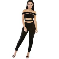 Women Jumpsuits Sexy Club Jumpsuits One Piece Outfits Black Full Bodysuit Hollow Out Rompers Womens Jumpsuit 2016 Long Pants