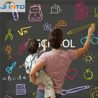 60x200CM Removable Blackboard Sticker Vinyl Chalkboard Wall Sticker with Free Liquid Chalk Pens photo booth props
