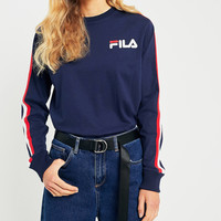 FILA Alina Navy Striped Long Sleeve T-Shirt | Urban Outfitters