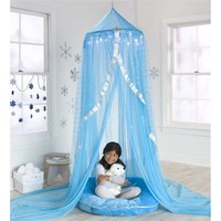 LED Light Up Icicles Frozen Snowflake Blue Canopy