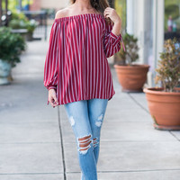 Too Chic To Beat Top, Burgundy