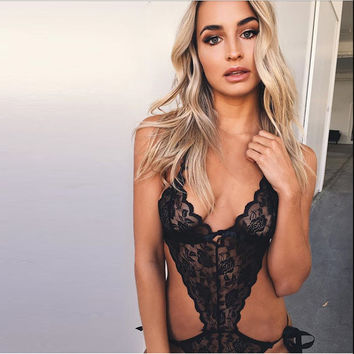 Cute On Sale Hot Deal Summer Women's Fashion Hot Sale Lace Hollow Out Sexy Exotic Lingerie [11677684047]