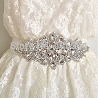 Wedding Accessories Discount Real Picture Crystal Beads Shinny Cheap Charming Bridal Belt Women Sashes