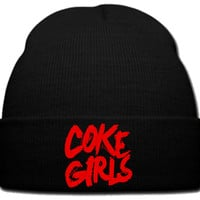 coke girls beanie knit hat
