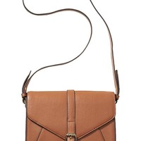 Old Navy Womens Faux Leather Crossbody Purses Size One Size - Cognac brown