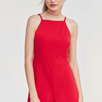 Oh My Love High Neck A-Line Romper | Urban Outfitters