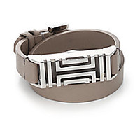 Tory Burch - Tory Burch For Fitbit Leather Double-Wrap Bracelet/Silvertone - Saks Fifth Avenue Mobile