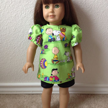 Charlie Brown Easter Egg Doll Shirt: fits most 18 in dolls