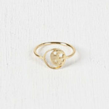 Moon and Stars Emblem Ring