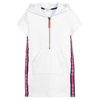 Girls White with Pink Logo Sweatshirt - Dress