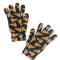 Pizza Printed Adult Gloves