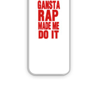 GANSTA RAP MADE ME DO IT - iPhone 5&5s Case