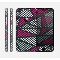 The Abstract Striped Vibrant Trangles Skin for the Apple iPhone 6