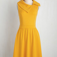 Trolley Tour Dress in Marigold