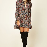 Paisley Print Swing Dress