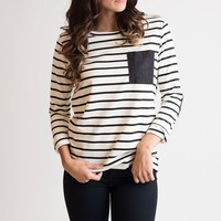 All Patched Up Striped Top