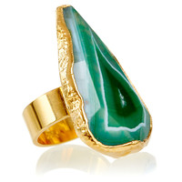 Green Fire Agate Aurelie Ring, Stone & Novelty Rings