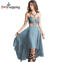 Sexy Boho Dress Women Cut Out V White Lace Cami Resort Wear vestido de festa feminino Monos Maxi Long Summer Style Gypsy Dresses