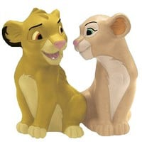 Lion King Simba and Nala Salt and Pepper Shakers - Westland Giftware - Lion King - Kitchenware at Entertainment Earth