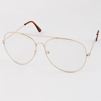 Clear Gold Frame Glasses