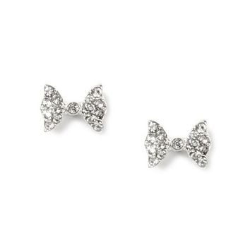 Crystal Mini Bow Stud Earrings  | Claire's