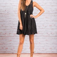 For The Love Of Lace Dress, Black
